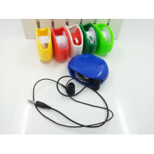 easy to carry automatic earphone headphone cable winder