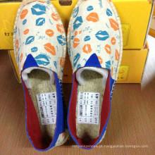 Novo estilo barato lona mulheres pano sapatos manufactuer