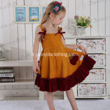 Corduroy Fabric Ruffle Boutique Vêtements Ensembles