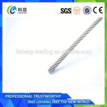 Corde en acier galvanisé recouvert de Pe 7x7