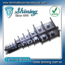 TA-100 Tipo de carril 100A Tornillo M8 Conector enchufable del bloque de terminales