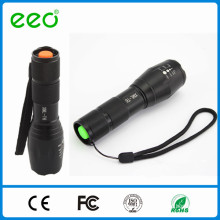 Factory XML2-T6 led tactical flashlight with tail switch powered by 1X18650 battery