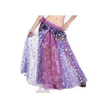 Chiffon Embroidered Belly Dance Skirts Practice Performance