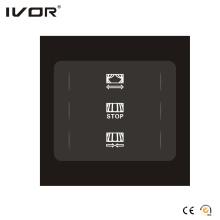 Panneau tactile de 1 interrupteur de rideau de Gang (SK-CT1200-AC1)