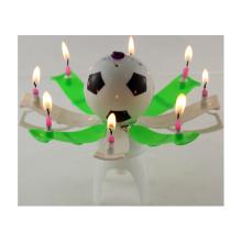 Sparkler fireworks soccot or football birthday candle