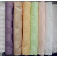 100% tela de algodón con diseño de franja para la sábana