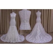 Trompete ou sereia do vestido de casamento do estilo