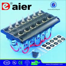 12V LED schwarz oder weiß Kippschalter / Marine flexible Solar Panel