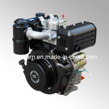 Motor diesel con eje de chaveta y filtro de aire de baño de aceite (HR186FA)