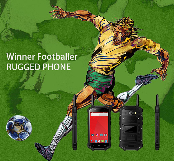 Footballer rugged phone