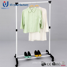Powder Coated Steel Single Rod Clothes Hanger