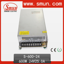 Fonte de alimentação do modo do interruptor de 24VDC 25A 600W