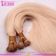 Moda pré-ligado cabelo venda quente popular pré-ligado extensões de cabelo atacado 7a grau pré ligado cabelo extensões