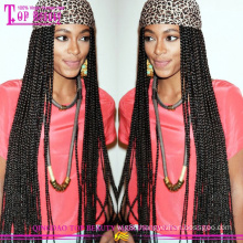 Factory Wholesale Cheap Braided Wigs Remy Human Hair Braided Wigs for Black Women
