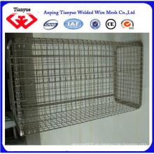 Cesta de malla de alambre de acero inoxidable 316L para almacenamiento