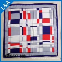 100% seda de satén impresión pequeña bufanda