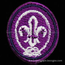 Embroidered Patch Badges, Customized Specifications are Accepted, Free Samples are Available