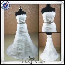 JJ0083 Beaded Oganza Ruffl Sleeveless Wedding Night Dress