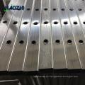 decorativo de aluminio cerca de la tapa del poste del panel fábrica de soldadura