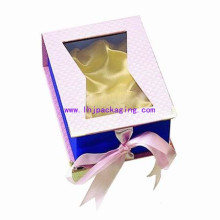 Book Shape Cosmetic Paper Box with Window