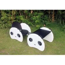 Рекламный продукт в виде рождественского подарка Panda Rocking Chair Wicker Furniture Bp-363