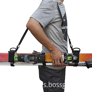Ski carrier strap