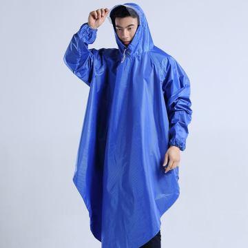Veste de pluie longue à capuche écologique pour adultes