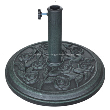 Garden Resin Unique Rose Design Umbrella Base