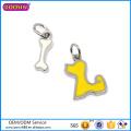 Factory Price Cute Jewelry Enamel Charm, Hot Sale Simple Bone Charm# 13260