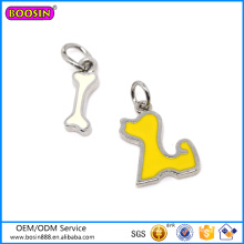 Factory Price Cute Jewelry Enamel Charm, Hot Sale Simple Bone Charm# 13260