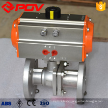 DN80 flanged stainless steel pneumatic ball valve