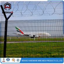 Rede de cerca revestida de galvanizado e PVC