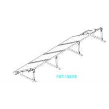 Sistema integrado de linha única para telhado plano