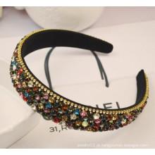 Moda jóias / moda cabelo banda / grânulos e fita headband (xhj12054)