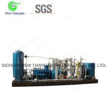 Compresor CNG de gas natural para las industrias de llenado de botellas