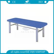 AG-ECC05 plataforma plana de acero inoxidable paciente sofá mesa mesas médicas para la venta