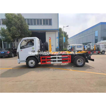 Dongfeng 4x2 waste trash removable bin garbage truck