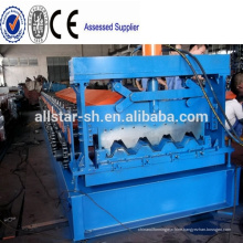 Steel Sheet Concrete Slab Plate Floor Decking Panel Roll Forming Machine With PLC Control System
