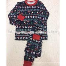 Pijama de Navidad estampado de algodón 2016 en precio de fábrica