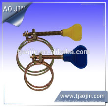 Double wire handle hose clamp