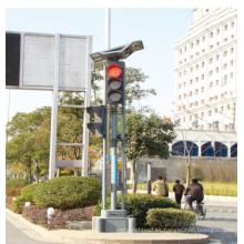 Alumbrado público al aire libre del tráfico de aluminio lleno de 400m m, semáforo llevado solar
