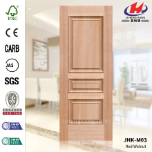 JHK-M03 Mass Manufacture Expensive Embossed MDF Red Walnut Veneer Door Skin Good Sell In Africa