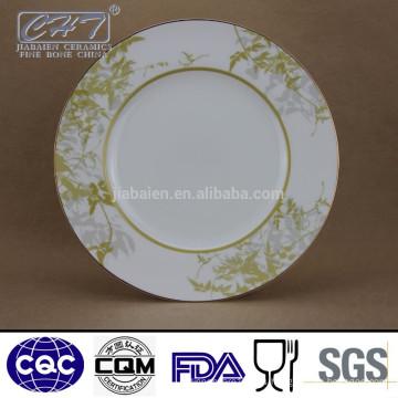 ZH003 Plato de cena redonda floral de la porcelana