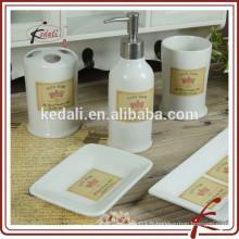 Hot Wholesale Stoneware Accessoire de salle de bains en porcelaine pour la maison