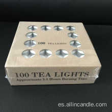Velas de 6 horas sin perfume color tealight