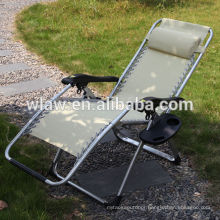 Folding beach chaise lounge chair