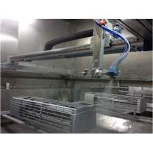 Reciprocator Automatic spraying Painting line untuk Plastik