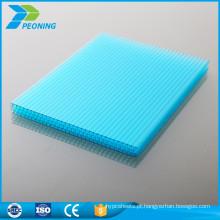 Tipos de fabricação de tipos de folha de estufa de policarbonato de parede dupla de 4mm