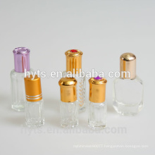 3ml 6ml 12ml octagonal glass roll on bottles