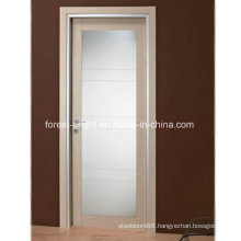 Modern Wood French Door with Glass, Glass Swing Door